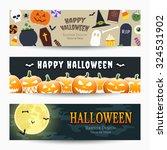 halloween banners  vector... | Shutterstock .eps vector #324531902
