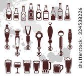 icons of bottles drinks and... | Shutterstock .eps vector #324538226