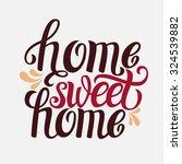 hand lettering typography... | Shutterstock .eps vector #324539882