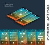 mobile user interface vector...