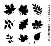 vector set of black silhouettes ... | Shutterstock .eps vector #324553286
