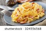 pasta carbonara | Shutterstock . vector #324556568