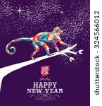2016 happy chinese new year of... | Shutterstock .eps vector #324566012