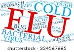 flu word cloud on a white... | Shutterstock .eps vector #324567665