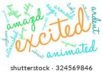 excited word cloud on a white... | Shutterstock .eps vector #324569846