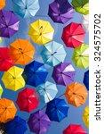 Colorful Umbrellas In The Sky ...