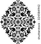 vintage vector hand drawn... | Shutterstock .eps vector #324584942