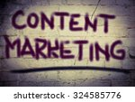 content marketing concept | Shutterstock . vector #324585776