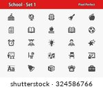 school icons. professional ... | Shutterstock .eps vector #324586766