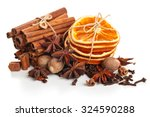 Dried Orange  Stars Anise And...