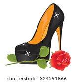 Elegant Black High Heeled Shoe...
