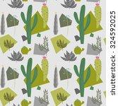 seamless exotic background...   Shutterstock .eps vector #324592025