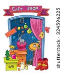 new year and xmas gift shop  ...   Shutterstock .eps vector #324596225