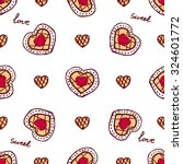 seamless pattern with doodle...   Shutterstock .eps vector #324601772