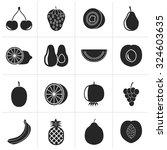 black different kind of fruit... | Shutterstock .eps vector #324603635
