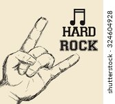 hard rock design with music... | Shutterstock .eps vector #324604928