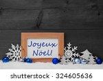 blue gray decoration on snow....   Shutterstock . vector #324605636