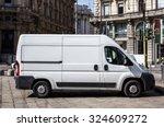 Stock photo courier express white van 324609272