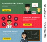 web banners for education and... | Shutterstock .eps vector #324609455