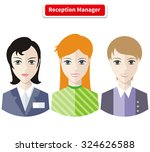reception manager. personal... | Shutterstock .eps vector #324626588