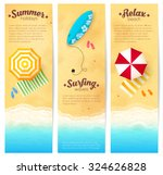 set of vector summer travel... | Shutterstock .eps vector #324626828