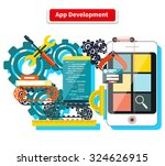 concept for app development... | Shutterstock .eps vector #324626915