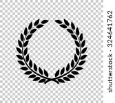 laurel wreath vector icon  ... | Shutterstock .eps vector #324641762