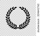 laurel wreath vector icon  ... | Shutterstock .eps vector #324641762