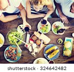 food lunch celebration party... | Shutterstock . vector #324642482