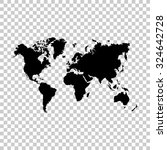 world map vector icon   black... | Shutterstock .eps vector #324642728