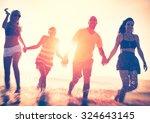 friendship freedom beach summer ... | Shutterstock . vector #324643145