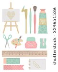 art tools collection | Shutterstock .eps vector #324651536