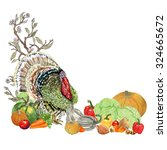 happy thanksgiving day... | Shutterstock . vector #324665672
