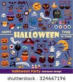 vintage halloween character... | Shutterstock .eps vector #324667196
