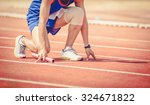 man is ready to run track ... | Shutterstock . vector #324671822