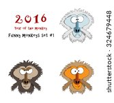 vector illustration of funny... | Shutterstock .eps vector #324679448
