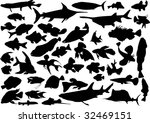 Fish Silhouettes Collection...