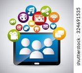 social media design  vector... | Shutterstock .eps vector #324691535