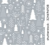seamless christmas pattern | Shutterstock .eps vector #324696938