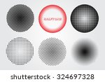 halftone design elements... | Shutterstock .eps vector #324697328