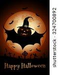 grunge halloween party... | Shutterstock . vector #324700892