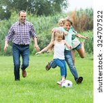 summer activity   happy family...   Shutterstock . vector #324707522