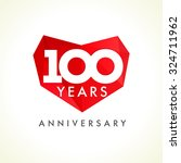 anniversary 100 years old... | Shutterstock .eps vector #324711962
