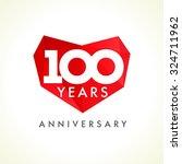 anniversary 100 years old... | Shutterstock .eps vector #324711962