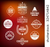christmas label set   design... | Shutterstock .eps vector #324714842