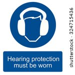 hearing protection sign vector