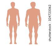 slender and full male figures   Shutterstock .eps vector #324723362