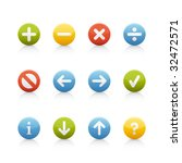 Navigation Buttons Icon Set