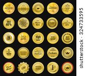 collection gold labels for... | Shutterstock .eps vector #324733595