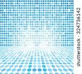 blue dot empty perspective... | Shutterstock . vector #324736142